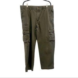 Eddie Bauer 7-Pocket Cargo Pants Dark Olive Size 38x32